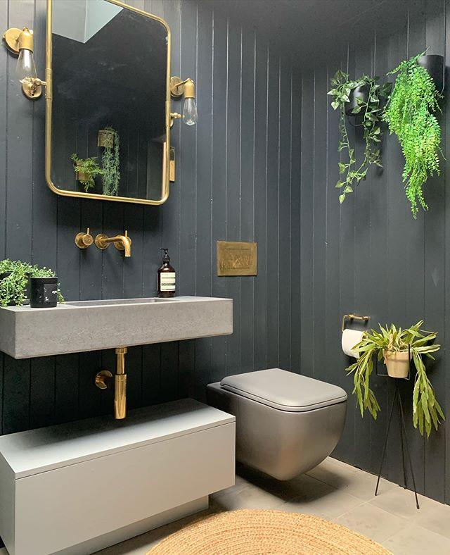 "<p>Treat the floor as a sacred space, and decorate via the walls. Wall-hung fixtures are one of those clever small bathroom ideas you can use to suggest the space is bigger than it is. Choose minimalist, against-the-wall styles and leave floors as clutter free as possible. </p><p><strong>Pro tip:</strong> A light bathroom floor will add space by contrasting against wall-hung fixtures</p><p><a href=""https://www.instagram.com/p/B9ituYVHLiF/?utm_source=ig_embed&utm_campaign=loading"">See the original post on Instagram</a></p>"