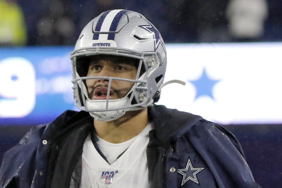 Dallas Cowboys quarterback Dak Prescott's brother Jace died on Thursday. (AP Photo/Bill Sikes)