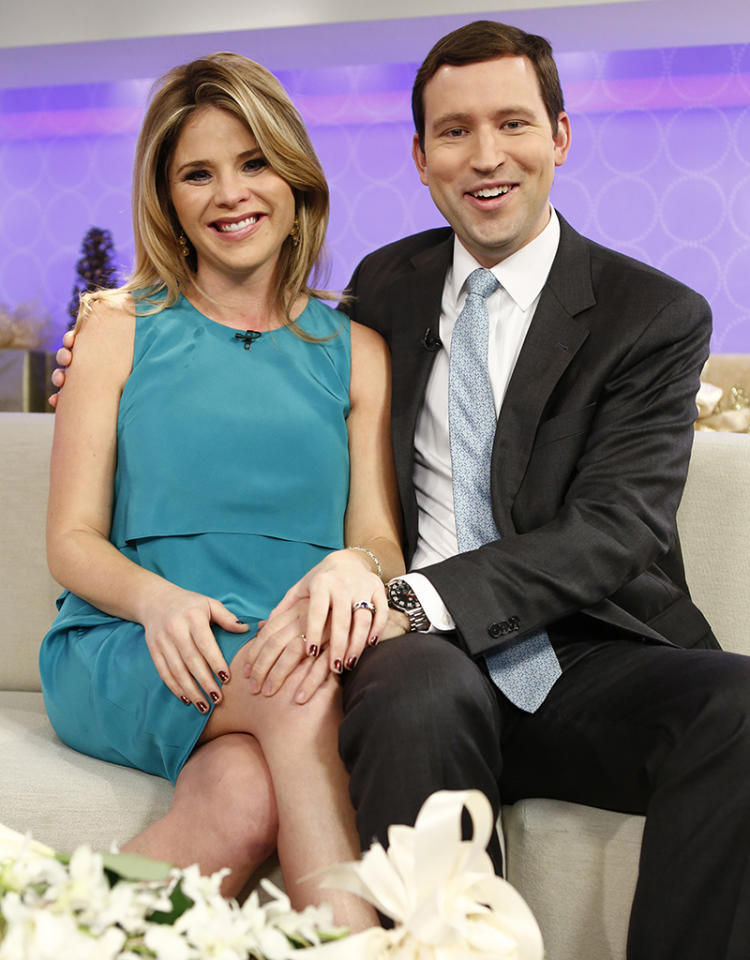 """TODAY -- Pictured: (l-r) Jenna Bush Hager and Henry Hager appear on NBC News' """"Today"""" show -- (Photo by: Peter Kramer/NBC/NBC NewsWire)"""