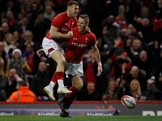 Rugby Union - Six Nations Championship - Wales vs France - Principality Stadium, Cardiff, Britain - March 17, 2018 Wales' Liam Williams celebrates after scoring a try Action Images via Reuters/Paul Childs