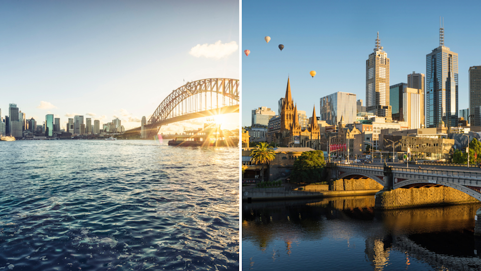 Sydney and Melbourne are neck and neck in many ways – but not economically.<i> Photos: Getty</i>