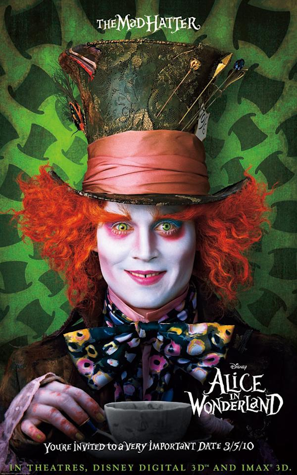 "<a href=""http://movies.yahoo.com/movie/contributor/1800019485"">Johnny Depp</a> stars as the Mad Hatter in Walt Disney Pictures' <a href=""http://movies.yahoo.com/movie/1810078365/info"">Alice in Wonderland</a> - 2010"