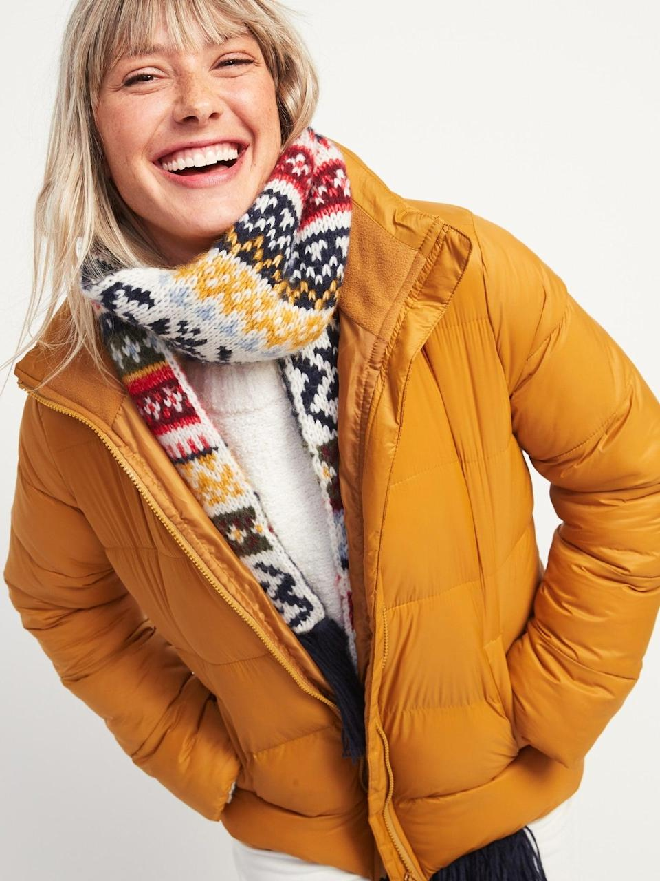 <p>Zip up and stay warm in this <span>Frost-Free Zip-Front Puffer Jacket</span> ($36, originally $55).</p>