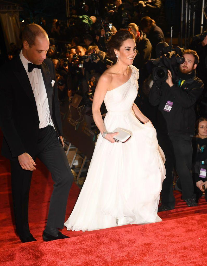 """<p>Early on in the year, Will and Kate attended the BAFTAs, looking rather glamorous for the entertainment awards show. <a href=""""https://www.townandcountrymag.com/society/tradition/g26254110/prince-william-kate-middleton-bafta-awards-2019-photos/"""" rel=""""nofollow noopener"""" target=""""_blank"""" data-ylk=""""slk:See all the photos from the event right here."""" class=""""link rapid-noclick-resp"""">See all the photos from the event right here.</a></p>"""