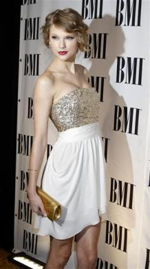 Singer and songwriter Taylor Swift arrives at the 58th annual BMI Pop Awards in Beverly Hills, California May 18, 2010.