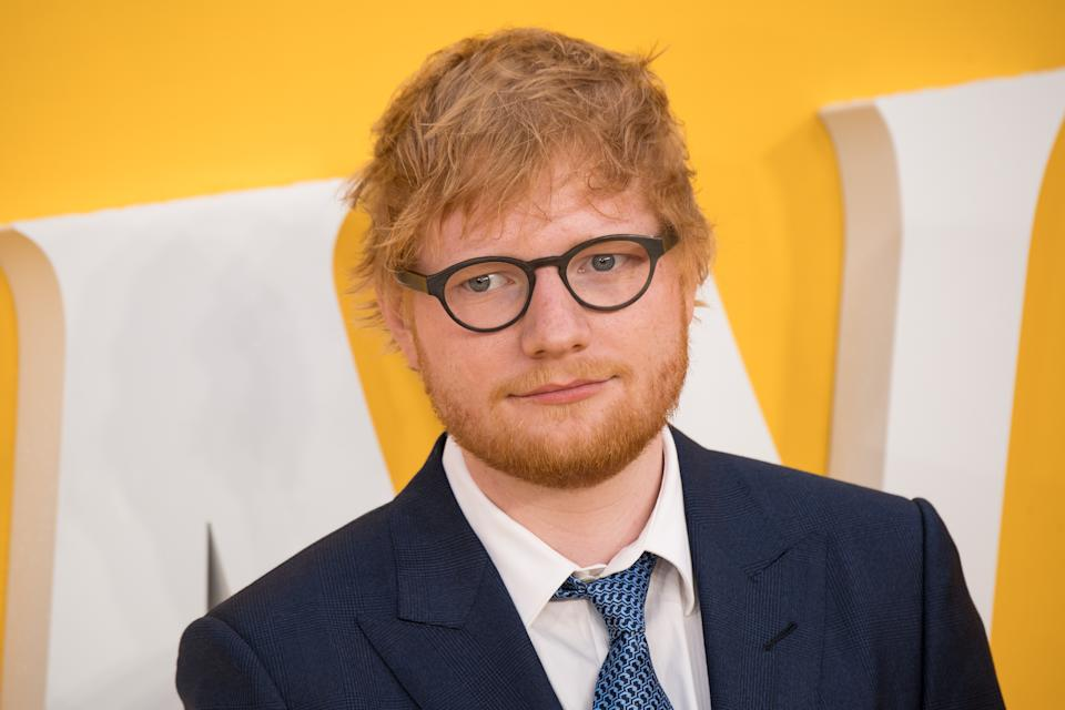 """LONDON, ENGLAND - JUNE 18: Ed Sheeran attends the UK Premiere of """"Yesterday"""" at Odeon Luxe Leicester Square on June 18, 2019 in London, England. (Photo by Jeff Spicer/Getty Images)"""