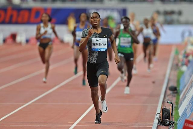 Caster Semenya last ran the 800 in Doha where she won (AFP Photo/Karim JAAFAR)