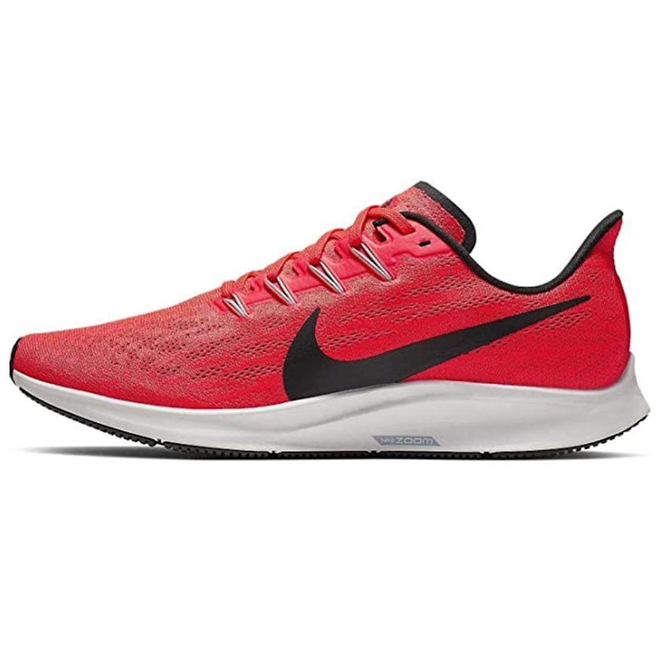 """<p><strong>Nike</strong></p><p>amazon.com</p><p><strong>$149.97</strong></p><p><a href=""""https://www.amazon.com/dp/B07H8KB5CZ?tag=syn-yahoo-20&ascsubtag=%5Bartid%7C2139.g.36608417%5Bsrc%7Cyahoo-us"""" rel=""""nofollow noopener"""" target=""""_blank"""" data-ylk=""""slk:BUY IT HERE"""" class=""""link rapid-noclick-resp"""">BUY IT HERE</a></p><p>Need a little extra support for your workout? Try this pair, which boast premium Cushlon ST foam midsoles that offer responsive cushioning and forefront flexibility. Even the outsole is working overtime, with lateral rubber blades that'll add sensory feedback to your jogs. </p>"""