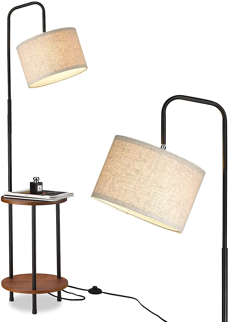 "<h3><a href=""https://amzn.to/3oOZQvE"" rel=""nofollow noopener"" target=""_blank"" data-ylk=""slk:Elyona Floor Lamp With End Table"" class=""link rapid-noclick-resp"">Elyona Floor Lamp With End Table</a></h3> <br><strong>When your tiny apartment is also a dark tiny apartment</strong>: Allow this stylish lamp to light up your dark apartment while also playing the double-duty role of living room storage unit and side table.<br><br><strong>Elyona</strong> Floor Lamp With End Table, $, available at <a href=""https://amzn.to/3oOZQvE"" rel=""nofollow noopener"" target=""_blank"" data-ylk=""slk:Amazon"" class=""link rapid-noclick-resp"">Amazon</a>"