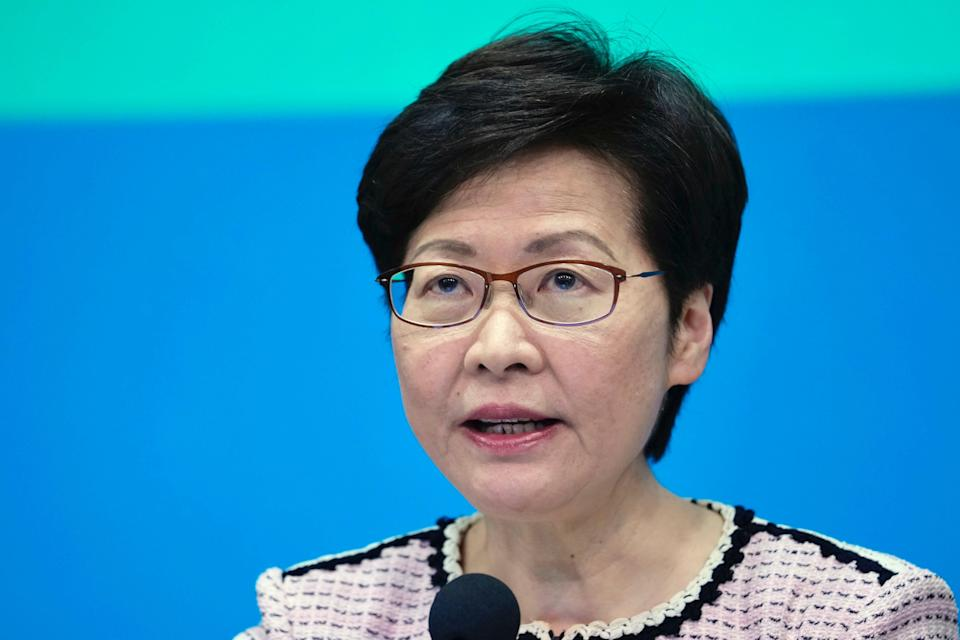 Hong Kong Carrie Lam (Copyright 2020 The Associated Press. All rights reserved.)