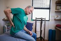 "Pain anywhere in your upper body could be a symptom of heart disease—not just your chest. According to the Cleveland Clinic, when the heart is having difficulty functioning, it activates nerves that can trigger pain elsewhere in the body. So, if you're dealing with <a href=""https://bestlifeonline.com/get-rid-of-back-pain/?utm_source=yahoo-news&utm_medium=feed&utm_campaign=yahoo-feed"" rel=""nofollow noopener"" target=""_blank"" data-ylk=""slk:discomfort in your back"" class=""link rapid-noclick-resp"">discomfort in your back</a> and you can't explain why, it might be time to get your heart checked out—just to be safe. And for more on the harmful behaviors you need to cut out as you age, check out <a href=""https://www.msn.com/en-us/news/other/40-habits-that-increase-your-chances-of-a-heart-attack-after-40/ss-BBYM14m"" rel=""nofollow noopener"" target=""_blank"" data-ylk=""slk:40 Habits That Increase Your Chances of a Heart Attack After 40"" class=""link rapid-noclick-resp"">40 Habits That Increase Your Chances of a Heart Attack After 40</a>."