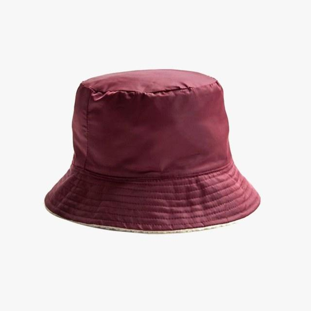 6637ad9c86c69 Urban Outfitters nylon and sherpa reversible bucket hat
