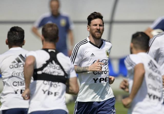 Lionel Messi and Argentina must win their final group game to have any chance of reaching the last 16 (AFP Photo/JUAN MABROMATA)