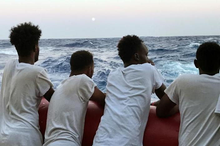 """Charity Mediterranea Saving Humans said it had sent a """"new urgent request"""" for a safe port for its Mare Jonio ship stranded off Italy (AFP Photo/Anne CHAON)"""