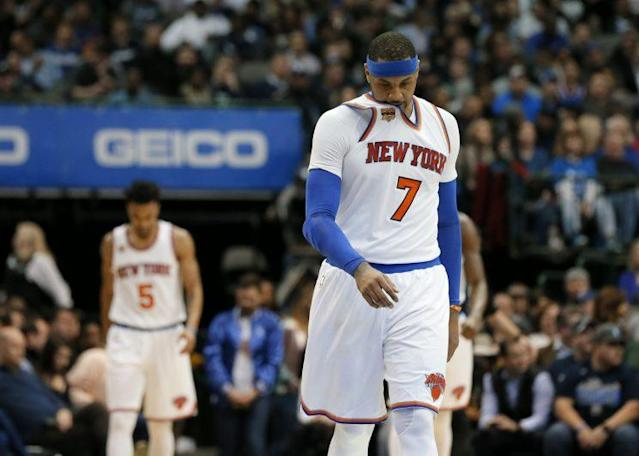 Carmelo Anthony is in his seventh season with the Knicks. (AP)
