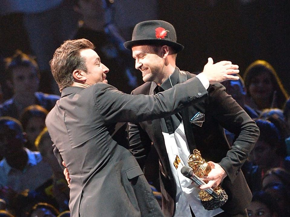 Jimmy Fallon and Justin Timberlake in 2013.