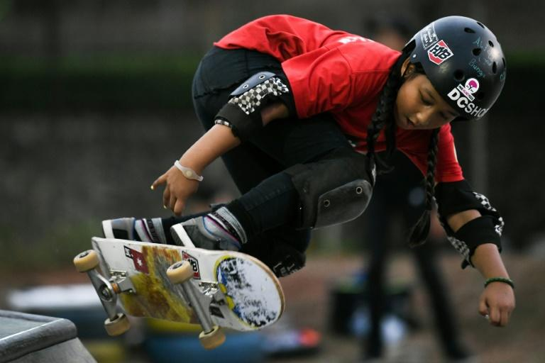 The mother of Indonesia's nine-year-old skateboarder Aliqqa Noverry admits to being scared witless as she sits and watches her daughter skating with boys almost twice her size