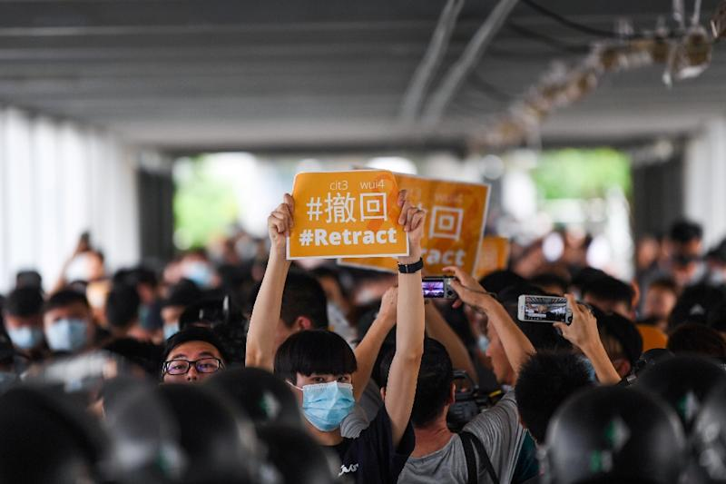 Many protesters in Hong Kong have used Telegram to evade electronic surveillance and organised demonstrations against a controversial bill that would allow extraditions to mainland China (AFP Photo/Anthony WALLACE)