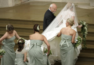 Bride Autumn Phillips at St. George's Chapel in 2008.
