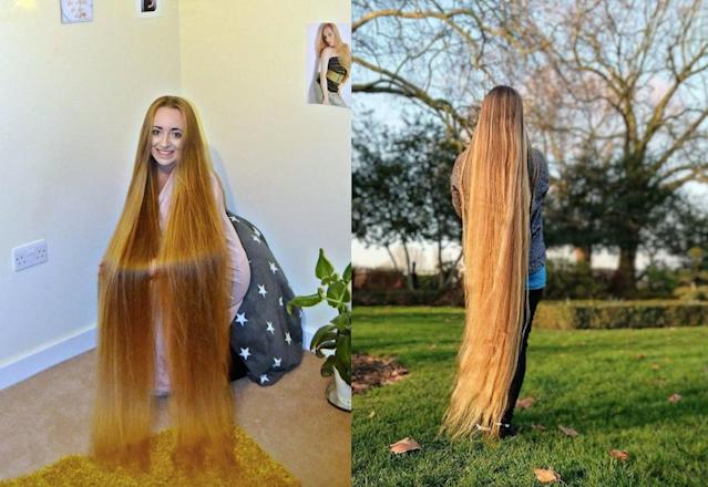 Malgorzata Kulczyk has been dubbed a real life Rapunzel. (Caters)