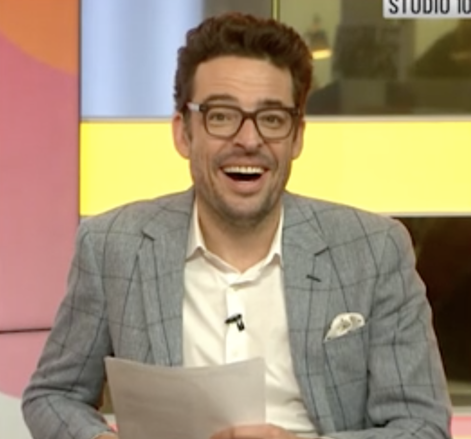 Joe Hildebrand awkwardly laughed at the comments made by Lawrence. Photo: Ten