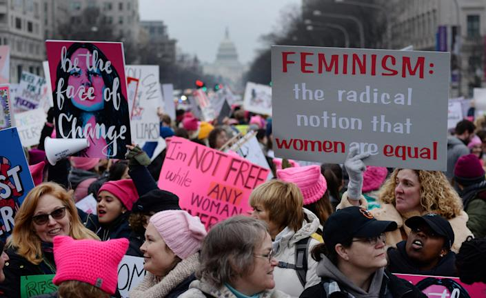 Thousands of people participate in the Third Annual Women's March at Freedom Plaza in Washington, Jan. 19, 2019. (Photo: Erin Scott/Reuters)