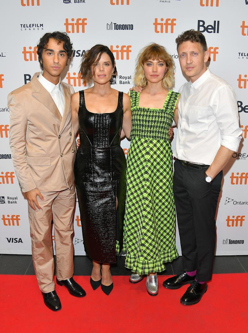 Campbell with Alex Wolff, Imogen Poots and director Joey Klein (Photo by George Pimentel/Getty Images).