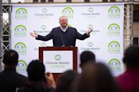 """<p>Gore was one of the more notable public figures to sound the alarm about climate change, and brought it to an even bigger stage with his award-winning 2006 documentary, <em>An Inconvenient Truth. </em><a href=""""https://www.wired.com/2016/05/wired-al-gore-climate-change/"""" rel=""""nofollow noopener"""" target=""""_blank"""" data-ylk=""""slk:Ten years later"""" class=""""link rapid-noclick-resp"""">Ten years later</a> in a chat with <em>Wired, </em>he spoke of how seeing the impact of global warming firsthand can make an individual finally want to act. </p> <p>""""I went to Tacloban in the Philippines and talked with survivors there who endured the ravages of Super Typhoon Haiyan,"""" he shared. """"When you see how their lives were utterly transformed and feel the painful losses they suffered, it certainly will stick with you.""""</p>"""