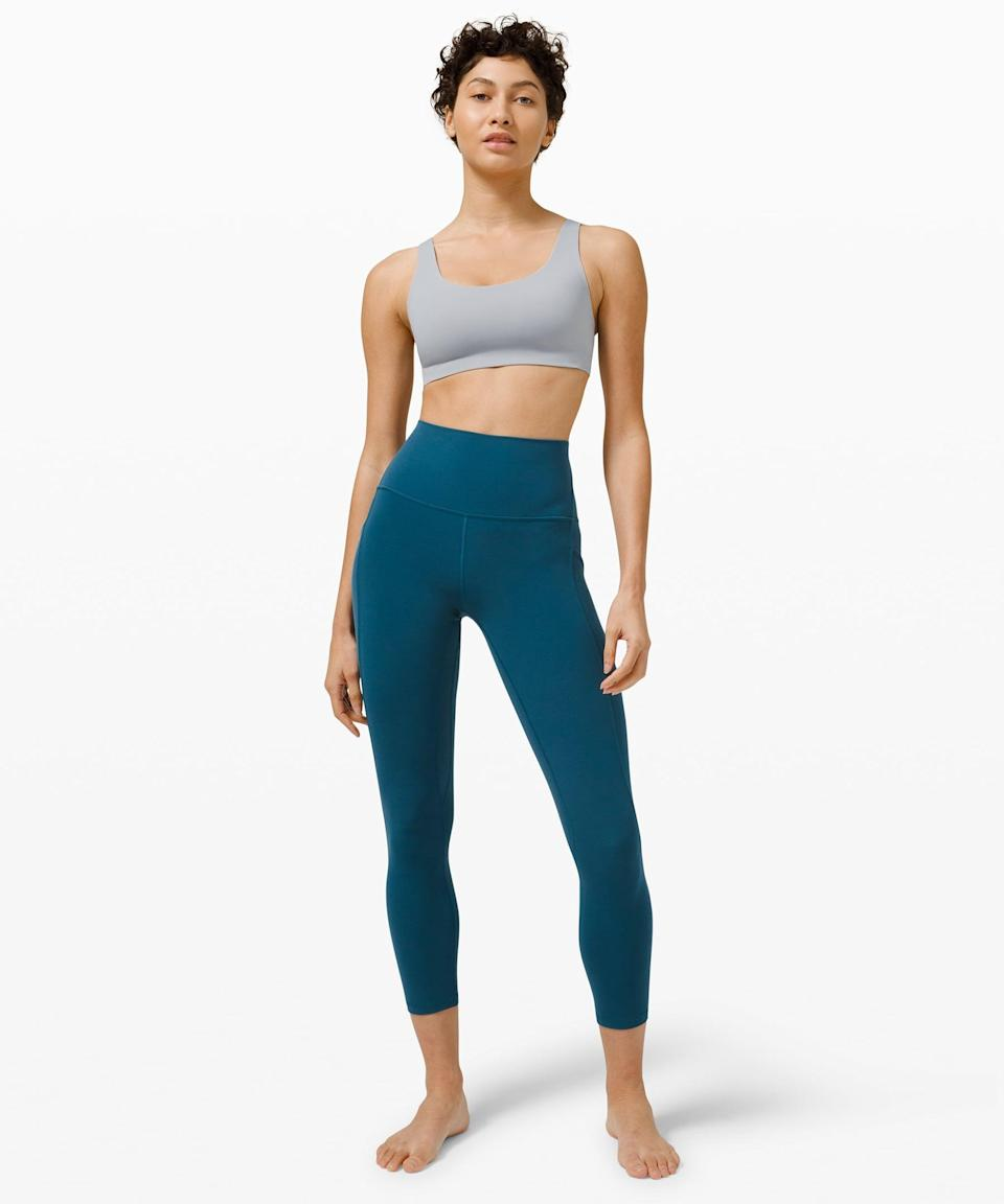 "<p>Get ready for spring with these cute <span>Lululemon Align High Rise Pant with Pockets 25""</span> ($128).</p>"