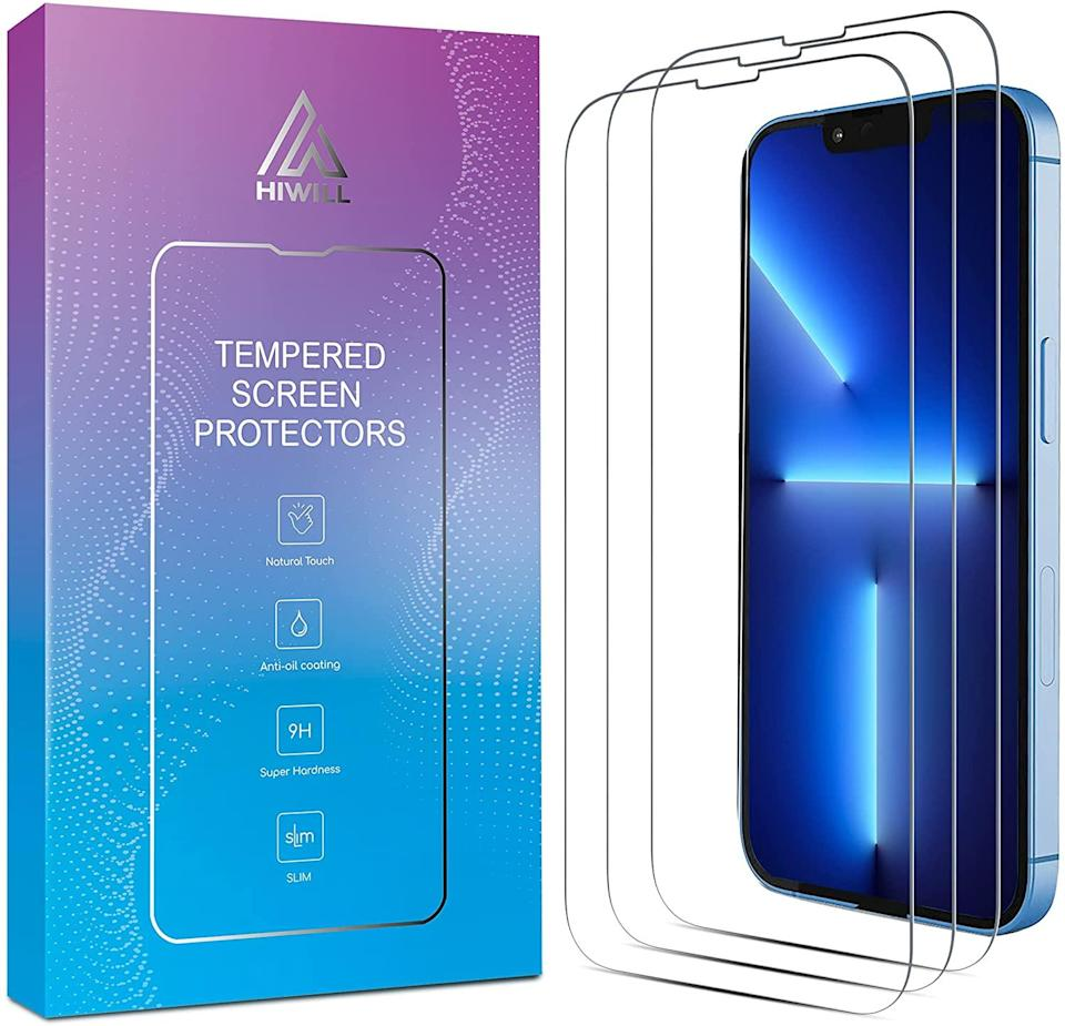 HIWILL iPhone 13 Pro Screen Protector, iPhone 13 Screen Protector, 6.1 Inch 3 Pack Tempered Glass. iPhone 13/ iPhone 13 Pro of Cell Phones & Accessories.
