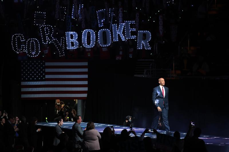 Democratic presidential candidate Sen. Cory Booker (D-NJ) speaks at the Liberty and Justice Celebration at the Wells Fargo Arena on November 01, 2019 in Des Moines, Iowa. (Photo: Scott Olson/Getty Images)