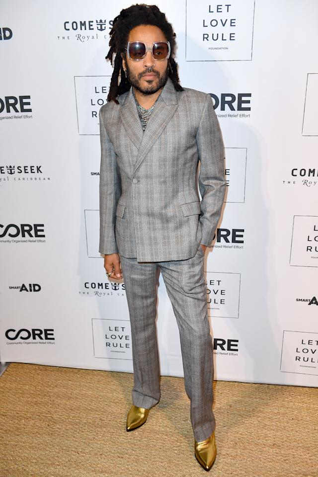 <p>WHERE: Core x Let Love Rule Benefit during Art Basel Miami</p> <p>WHEN: December 5, 2019</p> <p>WHY: In Lenny Kravitz's universe, even gray suits are glam.</p>