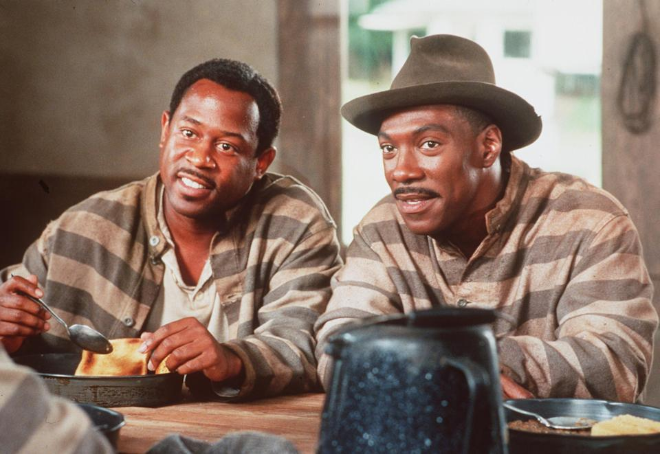 Imprisoned for life, Ray Gibson (Martin Lawrence, l) and Ray Gibson (Eddie Murphy)have a humorous way of looking at life in