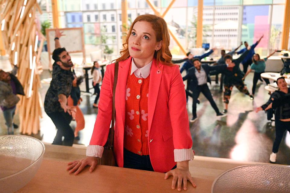 <p>Shout it (or sing it) from the rooftops! Levy (of no relation to fellow nominees Daniel or Eugene Levy) is nominated for best television actress – musical or comedy for her role as Zoey in<em> Zoey's Extraordinary Playlist</em>.</p>