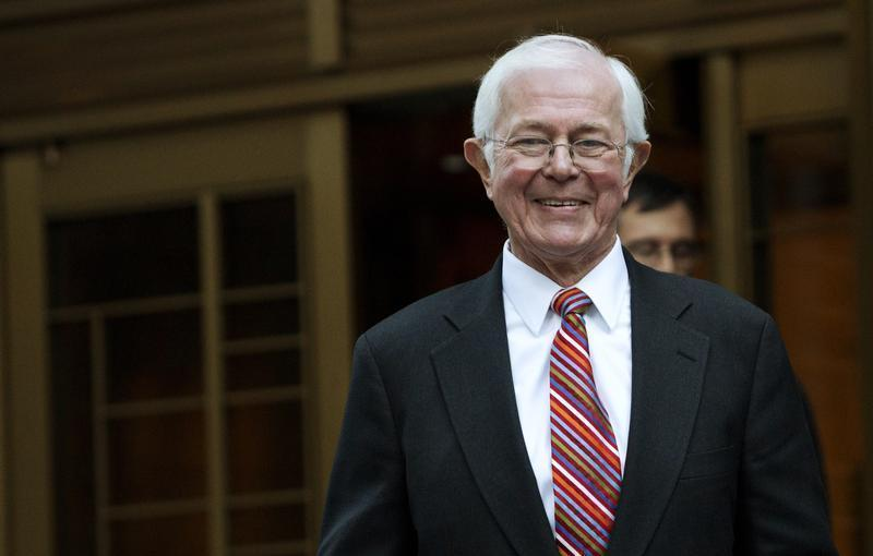 Money market pioneer Bruce Bent leaves the Manhattan Federal Court in New York
