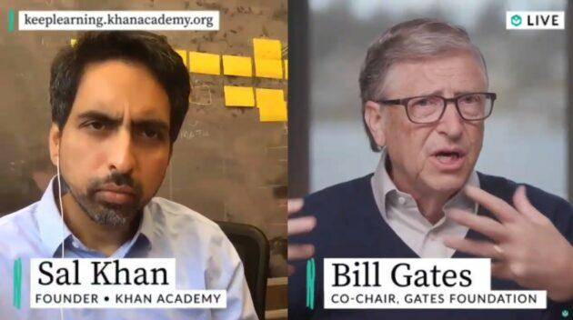 Sal Khan and Bill Gates