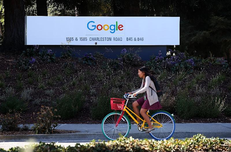 Google and other Silicon Valley giants are increasingly being targeted by the extreme right amid efforts to crack down on what is described as hateful speech (AFP Photo/JUSTIN SULLIVAN)