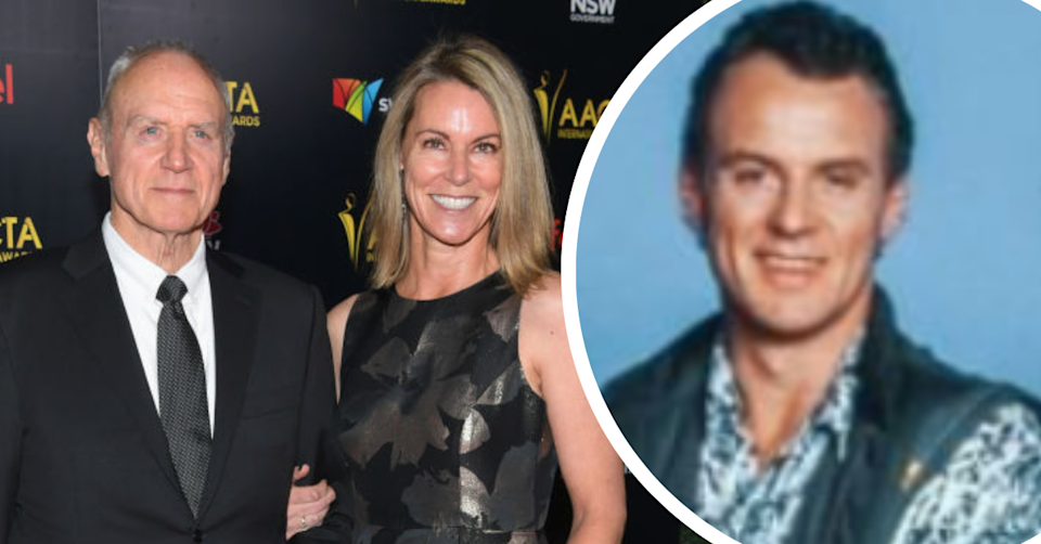 Alan Dale on Neighbours and on the red carpet with his wife