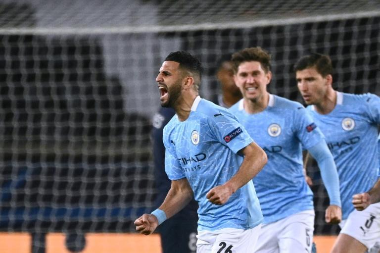 Riyad Mahrez (left)scored the winner against PSG as Manchester City took a giant stride towards the Champions League final