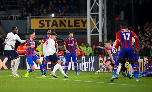 Roberto Firmino hit Liverpool's late winner at Crystal Palace (Adam Davy/PA)