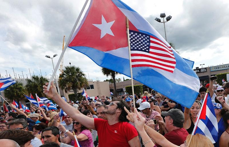 """Miami's Little Havana, home to many Cuban Americans, was named a US """"national treasure"""" by The National Trust for Historic Preservation on Juary 27, 2017 (AFP Photo/Rhona Wise)"""