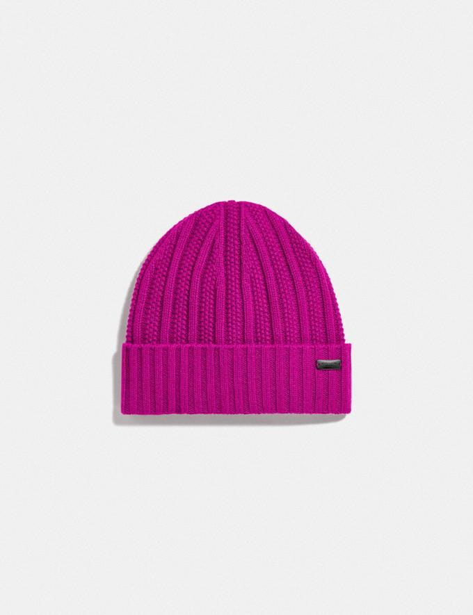 Cashmere Seed Stitch Knit Hat - Coach, $64 (originally $150)