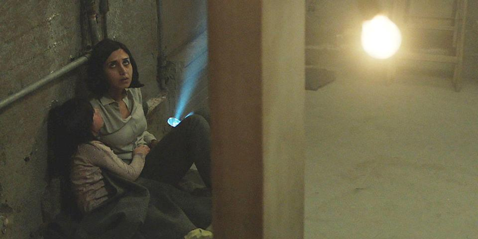 """<p>Writer/director Babak Anvari weaves Iranian politics and social mores into his Farsi-language horror debut about a mother and daughter living, or rather, fighting to stay in alive in 1988 Tehran, during the War of the Cities air raid period of the Iran-Iraq War. Shideh (Narges Rashidi) and her little one, Dorsa (Avin Manshadi), refuse to leave their apartment and instead find themselves at the mercy of <em>djinns</em> (or evil spirits), a missile that has landed in their living room, and a loosening grip on reality. A bold and truly unnerving watch, it might recall the masterful psychological terror imprints of Jennifer Kent and David Cronenberg. And trust us, that's a good thing. <a class=""""link rapid-noclick-resp"""" href=""""https://www.netflix.com/title/80096786"""" rel=""""nofollow noopener"""" target=""""_blank"""" data-ylk=""""slk:Watch Now"""">Watch Now</a> </p>"""