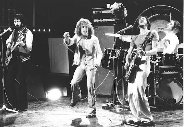 "THEN: The Who perform on ""Top Of The Pops"" in 1973. (Photo by Chris Walter/WireImage)"