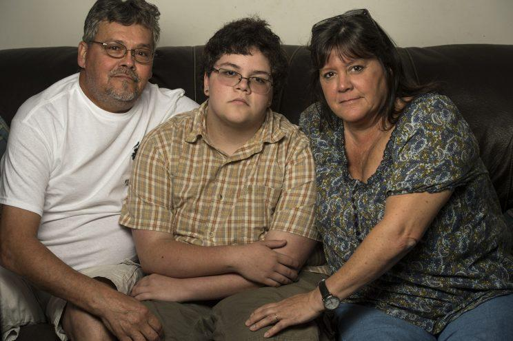 Gavin Grimm with his parents, David and Deirdre Grimm.