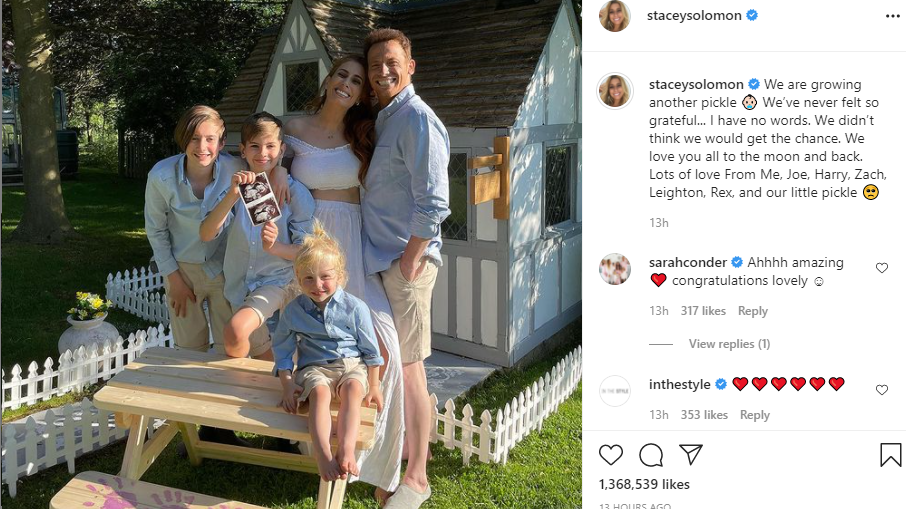 Screengrab from Stacey Solomon's Instagram