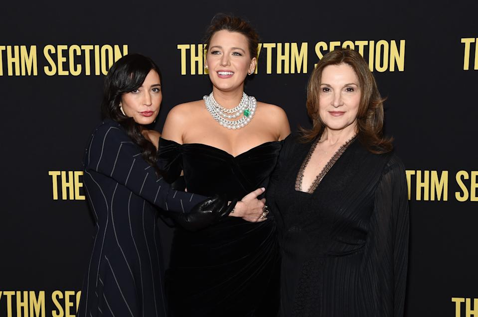 """NEW YORK, NEW YORK - JANUARY 27: Reed Morano, Blake Lively and Barbara Broccoli attend the screening of """"The Rhythm Section"""" at Brooklyn Academy of Music on January 27, 2020 in New York City. (Photo by Jamie McCarthy/Getty Images)"""