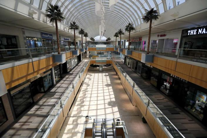 Lifting restrictions that were in place due to the Covid-19 pandemic, Texas Gov. Greg Abbott announced that retail stores, including Dallas' Galleria shopping mall, would be allowed to reopen and conduct curbside service.