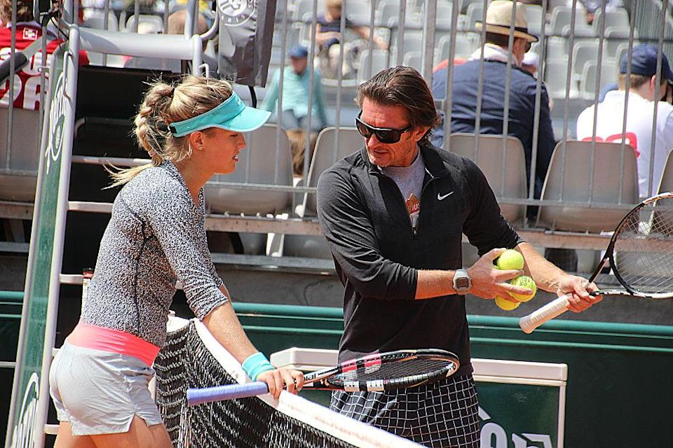 Bouchard's association with Sumyk in 2016 lasted just six months; he now coaches French Open champion Garbiñe Muguruza of Spain. (Stephanie Myles/opencourt.ca)