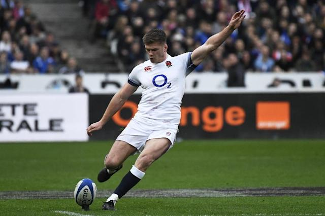 Owen Farrell's goalkicking proved the difference as Saracens eventually overwhelmed Wasps 57-33 to book a place in the English Premiership final against either champions Exeter or Newcastle (AFP Photo/CHRISTOPHE SIMON)